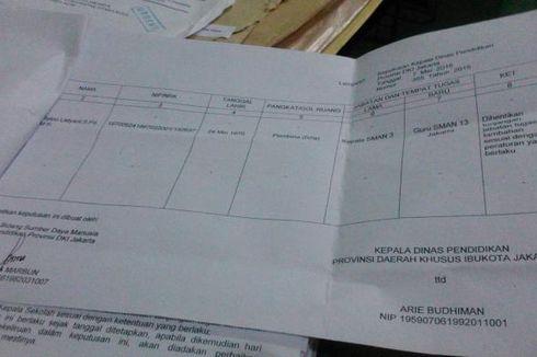 Ternyata, Lampiran SK Retno Tanpa Tanda Tangan Kadis Pendidikan
