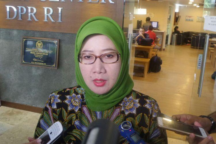 Ketua Fraksi PPP di DPR, Reni Marlinawati di Kompleks Parlemen, Senayan, Jakarta, Kamis (7/9/2017)