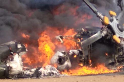 Helikopter Jatuh dan Meledak di Kendal, 5 Luka Berat, 4 Meninggal