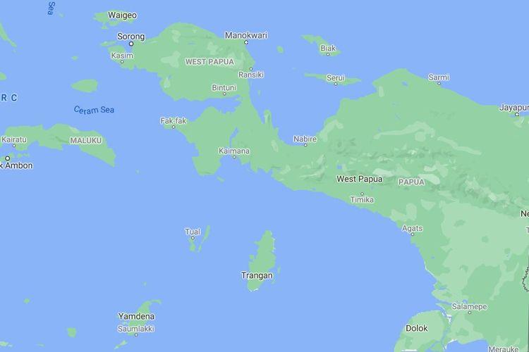 Peta Papua dan Papua Barat
