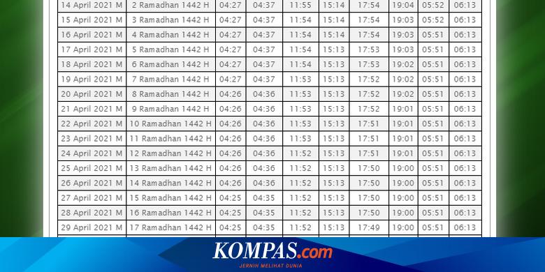Link Download Jadwal Puasa Ramadhan 2021 di Seluruh Indonesia
