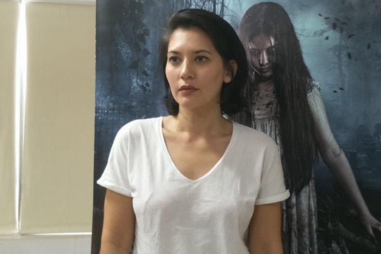 Hannah Al Rashid saat berkunjung ke Gedung Kompas Gramedia, Jalan Palmerah Barat, Jakarta, Rabu (6/6/2018).
