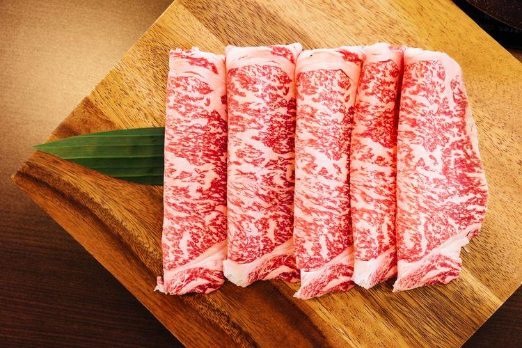 Ilustrasi daging wagyu grade A5