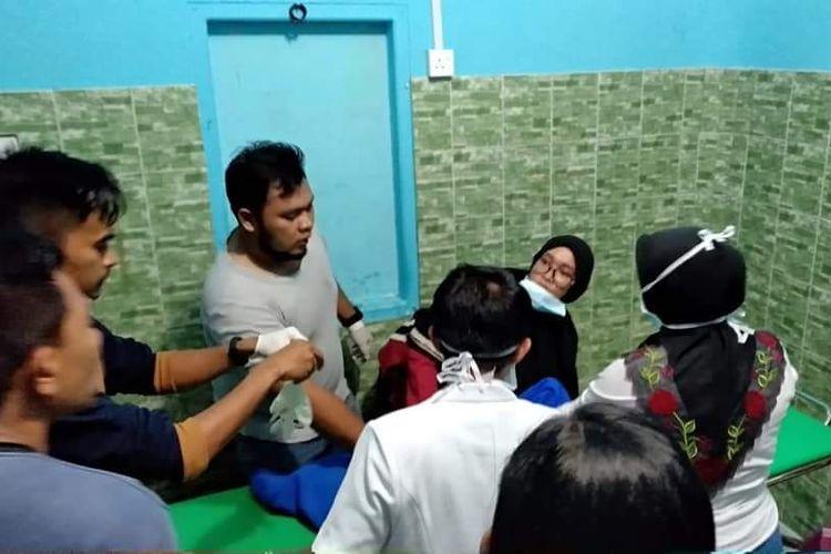 Kapal cepat Puskesmas Keliling (Puskel) Desa Nyamuk, Kecamatan Siantan, Kabupaten Anambas, Kepulauan Riau (Keprei) tenggelam saat betolak dari Tarempa menuju Desa Nyamuk, sekitar pukul 19.00 WIB, Kamis (11/10/2018) malam kemarin.