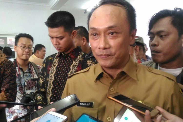 Direktur Jenderal Kependudukan dan Catatan Sipil (Dirjen Dukcapil) Kementerian Dalam Negeri, Zudan Arif Fakrulloh di Sekretariat Nasional (Seknas) Prabowo-Sandi di Jakarta Pusat, Selasa (2/4/2019).