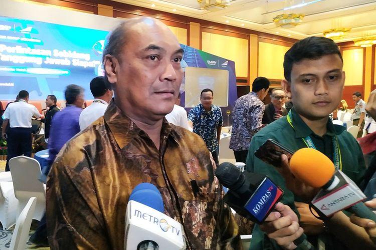 Komite Nasional Keselamatan Transportasi (KNKT) Soerjanto Tjahjono memberikan keterangan di Hotel Borobudur, Jakarta, Jumat (6/9/2019).