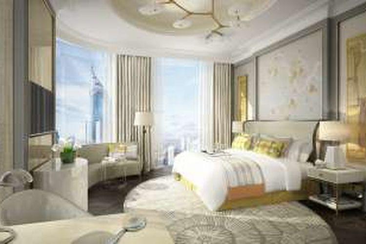 Tampilan visual tempat tidur The St Regis Jakarta