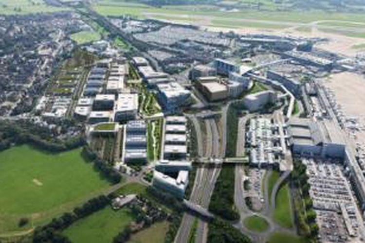 China sepakat mendukung pengembangan Manchester Airport City senilai Rp 14 triliun.