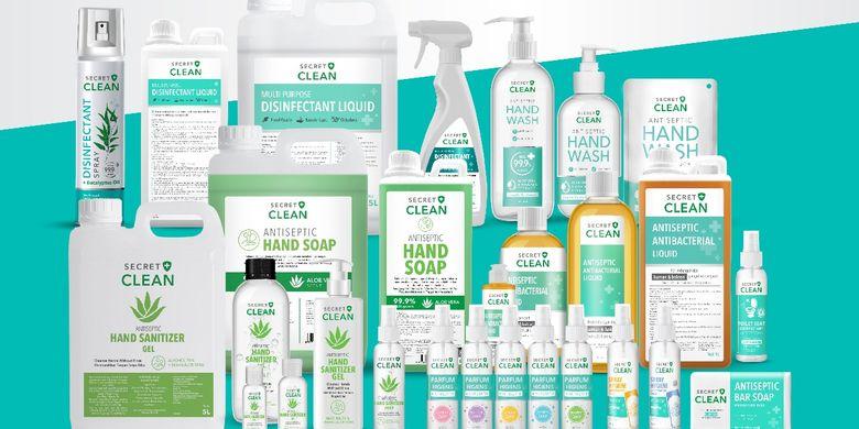 Beragam produk sanitasi dan kebersihan dari Secret Clean.