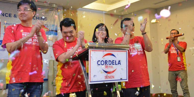 Launching Cordela Hotel Reward 2019 di Cordela Hotel Senen, Jakarta, Jumat (1/3/2019).