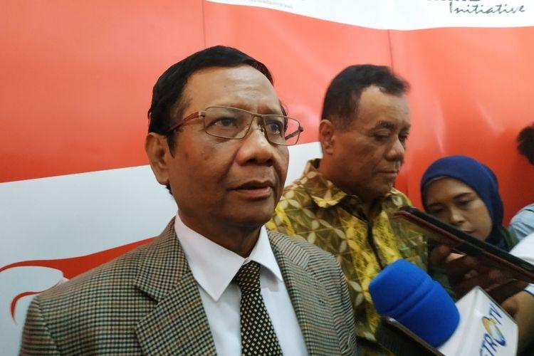 Menko Polhukam Mahfud MD di Kampus Universitas Indonesia, Depok,  Jawa Barat, Senin (17/2/2020).