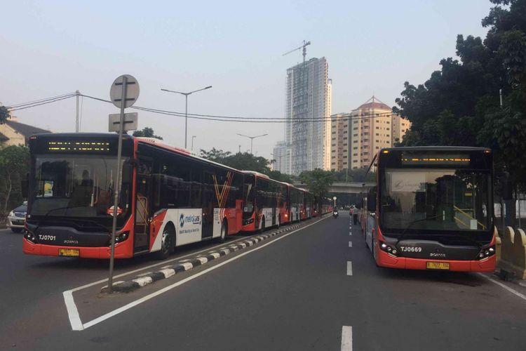 Ditlantas Polda Metro Jaya menggeler simulasi rute pengawalan  kendaraan atlet Asian Games 2018, Jumat (20/7/2018). Simulasi yang digelar kali ini merupakan simulasi yang ke dua setelah sebelumnya pernah digelar pada  Rabu dua pekan lalu.