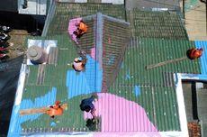 Pengecatan Genteng 168 Rumah di Lenteng Agung, DKJ Ambil Konsep Geometrik