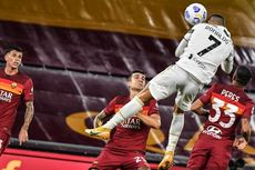 Hasil AS Roma Vs Juventus, Kepala Ronaldo Selamatkan Pirlo dari Kekalahan Perdana