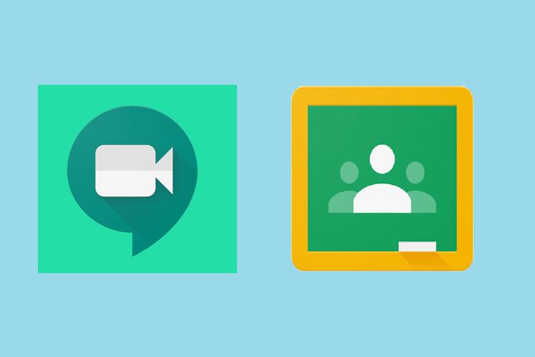 Logo Google Meet dan Google Classroom