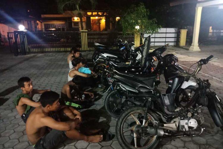 Pelaku balap liar dan sepeda motornya diamankan Satlantas Polresta Pekanbaru, Riau, Sabtu (11/4/2020) malam.