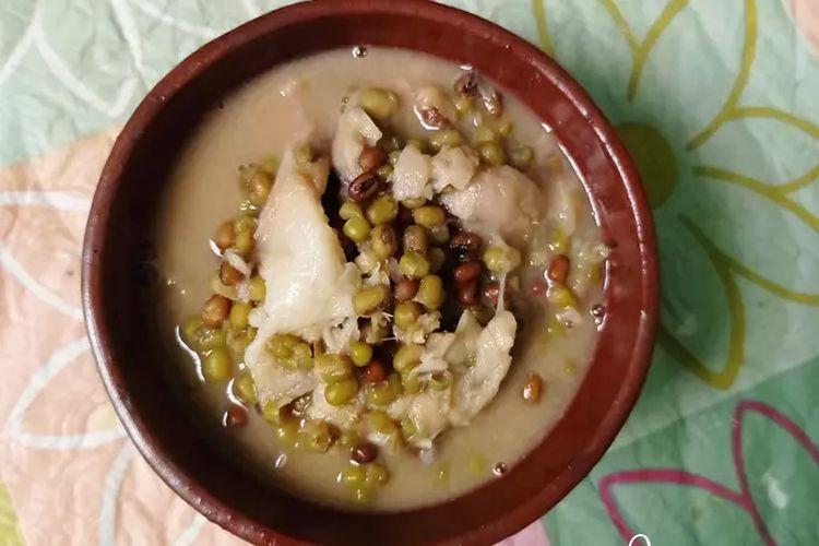 Bubur kacang hijau durian.