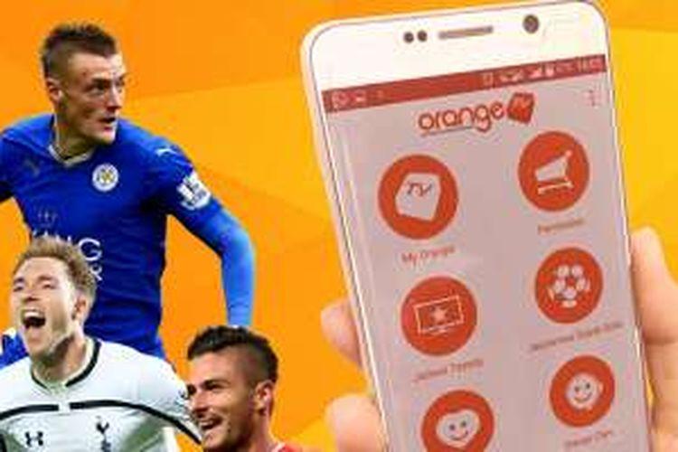 Aplikasi Android OrangeKu bagi pelanggan OrangeTV.
