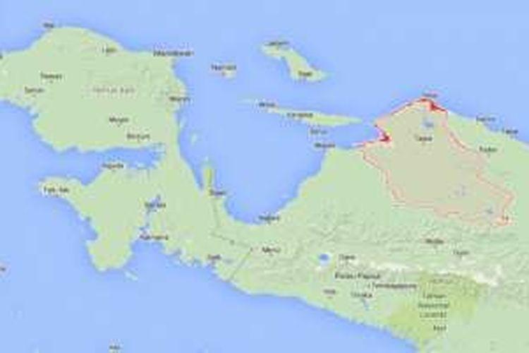 Peta Mamberamo Raya