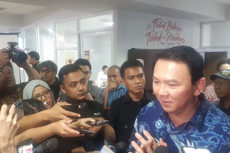 Pertamina President Commissioner and former Jakarta Governor Basuki Ahok Tjahaja Purnama at the offices of Tempo Magazine, 17 February 2020