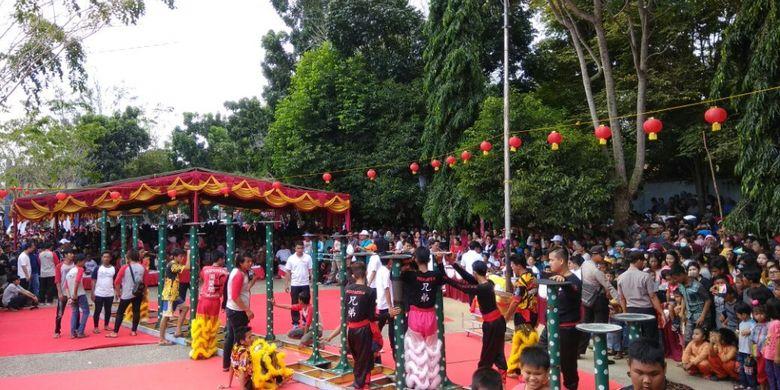Festival Barongsai di Toboali, Bangka Selatan.