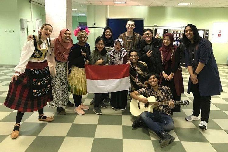 Partisipasi Mahasiswa Indonesia dalam kegiatan Hari Bahasa Ibu yang dilaksanakan di MPGU, pada Jumat, 21 Februari 2020 lalu. (PERMIRA/Ferlito)