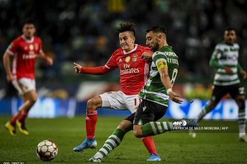 Transfer ke Man United Terganjal, Bruno Fernandes Tampil Penuh Lawan Benfica