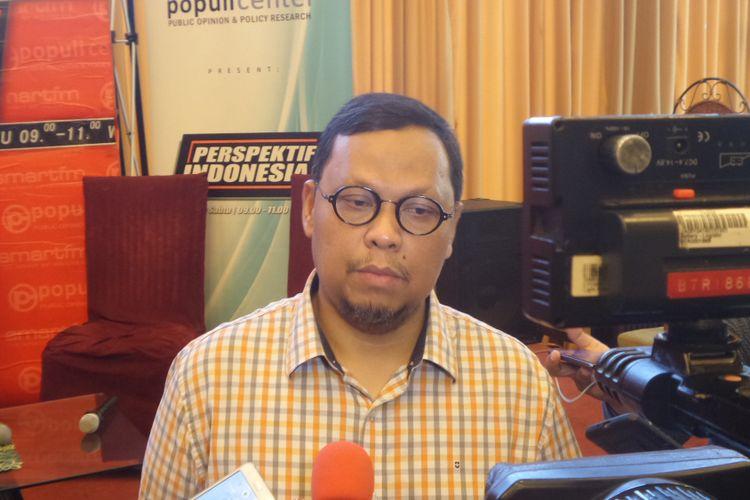 Ketua Pansus RUU Pemilu Lukman Edy seusai acara diskusi di bilangan Menteng, Jakarta Pusat, Sabtu (3/6/2017).