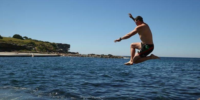 Suasana Pantai Clovelly di Sydney, Australia