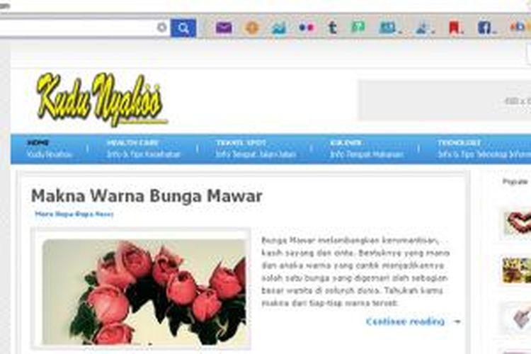 Tampilan situs KuduNyahoo.com