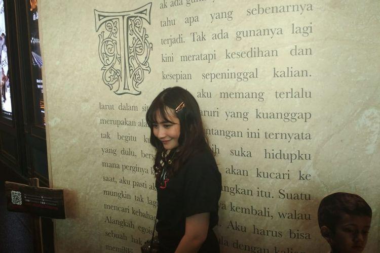 Prilly Latuconsina dalam jumpa pers di Grand Indonesia, Jakarta Pusat, Senin (2/9/2019).