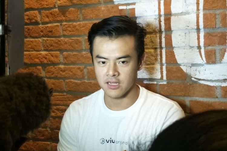 Dion Wiyoko saat jumpa pers peluncuran episode pertama original series Viu, Sunshine di Grand Indonesia, Thamrin, Jakarta Pusat, Kamis (31/5/2018).