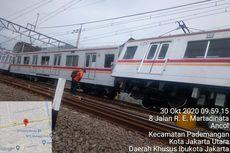 KRL Anjlok Selesai Dievakuasi, Stasiun Kampung Bandan Masih Belum Bisa Dilalui