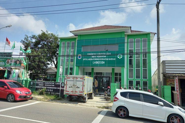 Situasi Gedung Labkesda Lebak di Rangkasbitung, Senin (15/2/2021)