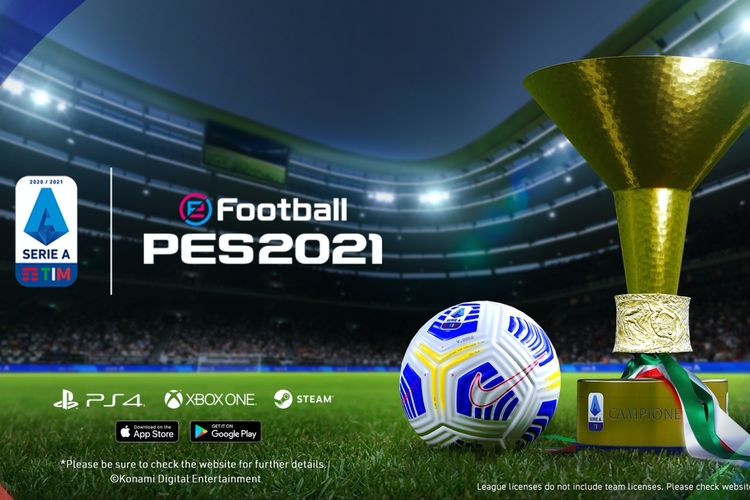 Game sepakbol eFootball PES 2021 Mobile.