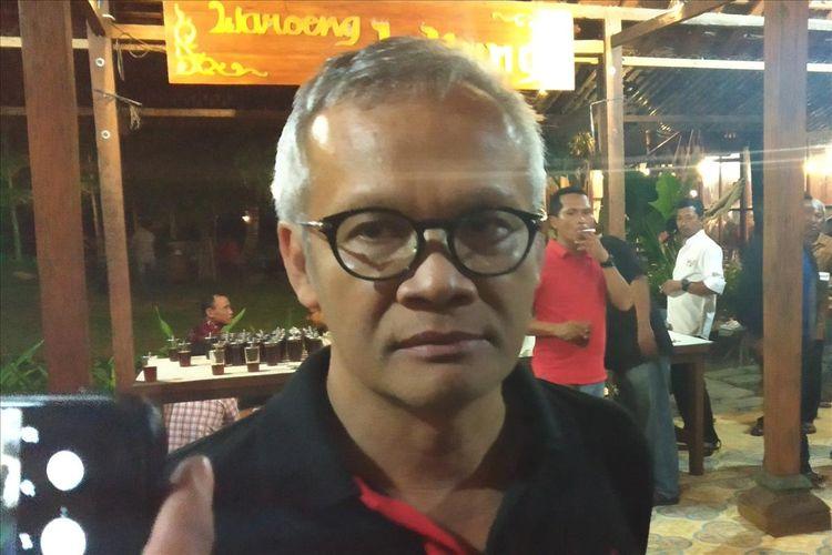 Politisi Senior PDI Perjuangan Aria Bima dalam acara Sosialsiasi 4 Pilar Kebangsaan di Sukoharjo, Jawa Tengah, Selasa (13/8/2019) malam.