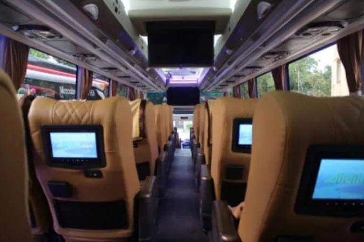 Fasilitas Audio Video On Demand (AVOD) pada bus AKAP PO Sembodo