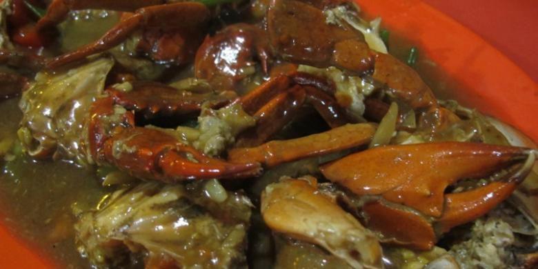 Kepiting Saus Tiram di Pecenongan, Jakpus.