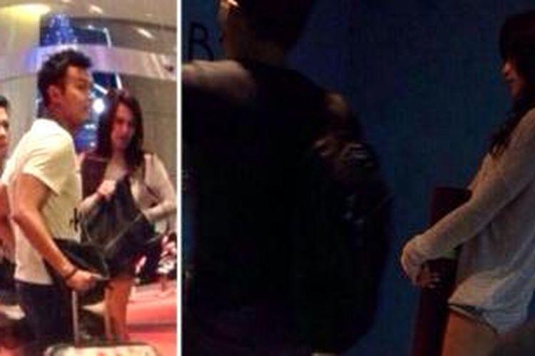 Seorang pengunjung Trans Studio Bandung, Senin (30/12/2013), sempat mengabadikan kebersamaan Nazriel Irham alias Ariel, vokalis NOAH, dengan penyanyi, artis peran, dan model Sophia Mueller atau Sophie, yang dulu dikenal sebagai Sophia Latjuba, Senin (30/12/2013).