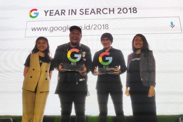 (ki-ka) Feliciana Wirnathan, Communications Manajer Google Indonesia, Penyanyi Virgoun dan Anji, serta Mira Sumanti, Search Marketing Manager Google Indonesia