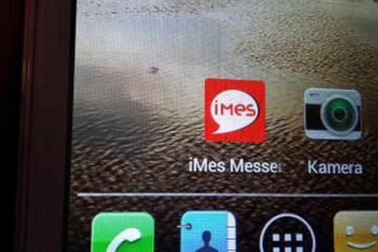 Ikon Indonesia Messenger (Imes) di layar ponsel.