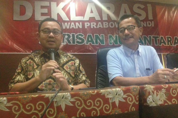 Dua mantan menteri Kabinet Kerja, Sudirman Said dan Ferry Mursyidan Baldan mulai terjun untuk pemenangan Prabowo-Sandi di Pilpres 2019 di Semarang, Sabtu (29/9/2018)