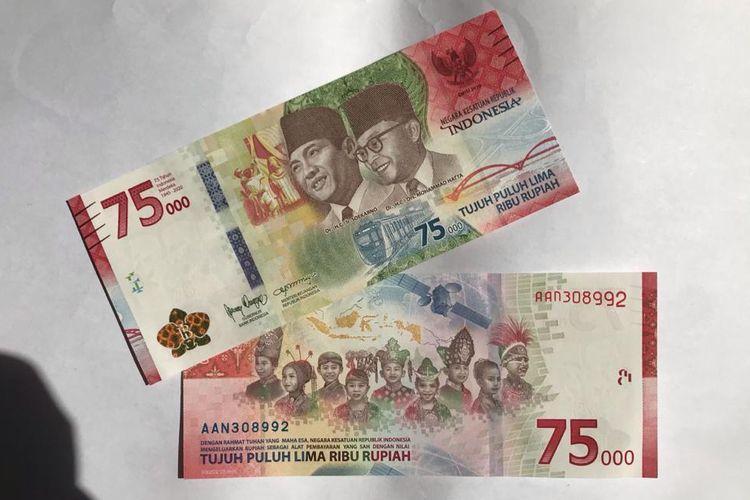 Uang Peringatan Kemerdekaan ke-75 yang dikeluarkan Bank Indonesia.