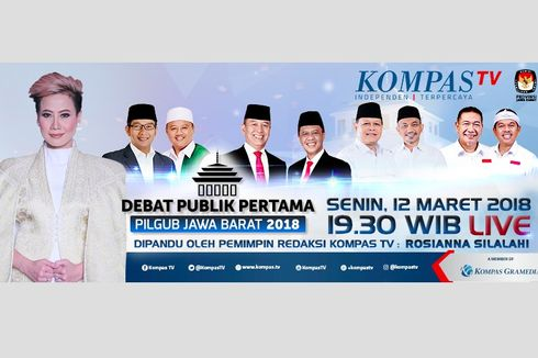 Saksikan Debat Publik Perdana Pilkada Jawa Barat di KompasTV, Senin Malam Ini