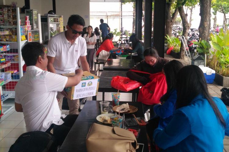 Mahasiswa di Bali menggalang dukungan bagi korban bencana Lombok