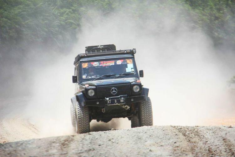 Salah satu mobil yang digunakan perwakilan Mercedes Jip Indonesia-Adventura untuk datang ke The Sarawak 4x4 Jamboree di Sibu, Sarawak, Malaysia pada 13-16 September 2018.