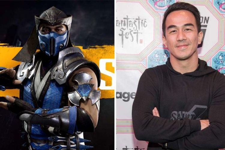 Aktor Joe Taslim dan karakter Sub-Zero yang akan diperankannya di film Mortal Kombat.
