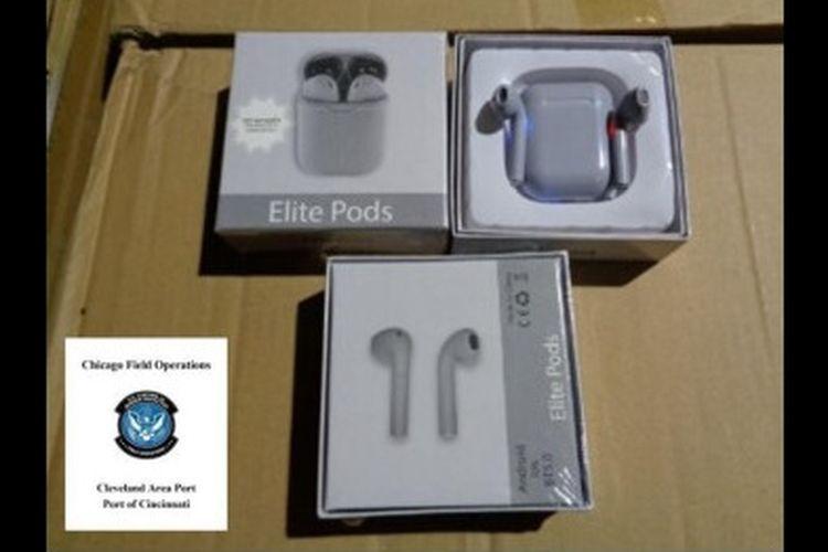 AirPods KW dengan merek Elite Pods dari China.