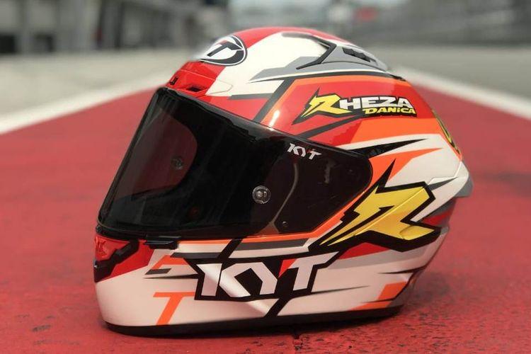 Grafis helm para pebalap Honda