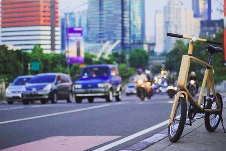 Sepeda kayu dari Kayuh Wooden Bike
